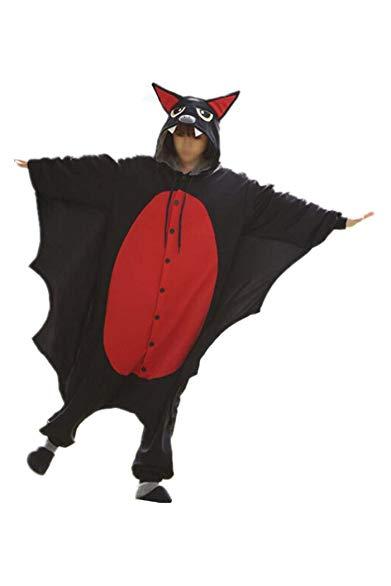 WOTOGOLD Animal Black Bat Cosplay Costume Unisex Adult Pajamas