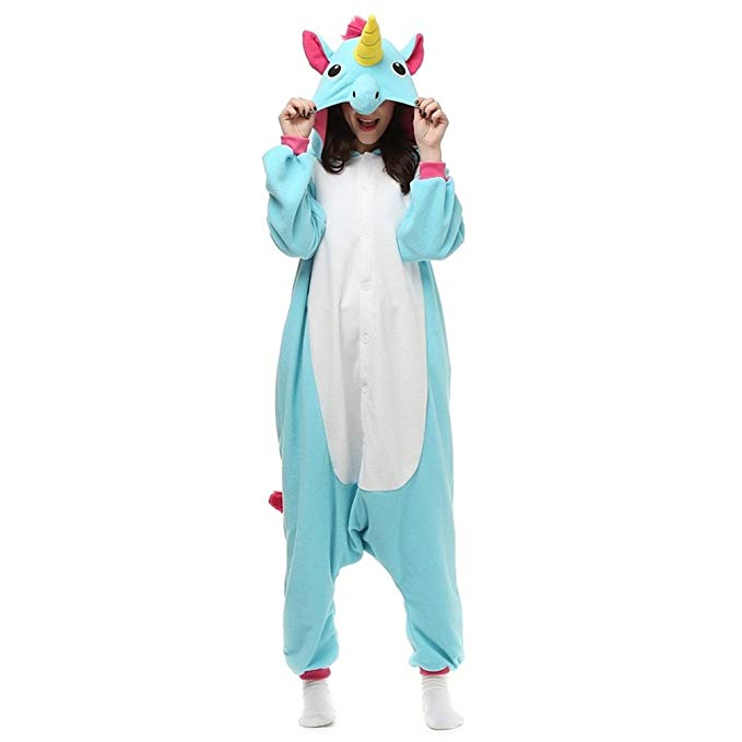 NINI.LADY Unisex Sleepsuit Pajamas Cosplay Costume Adult Sleepwear Unicorn