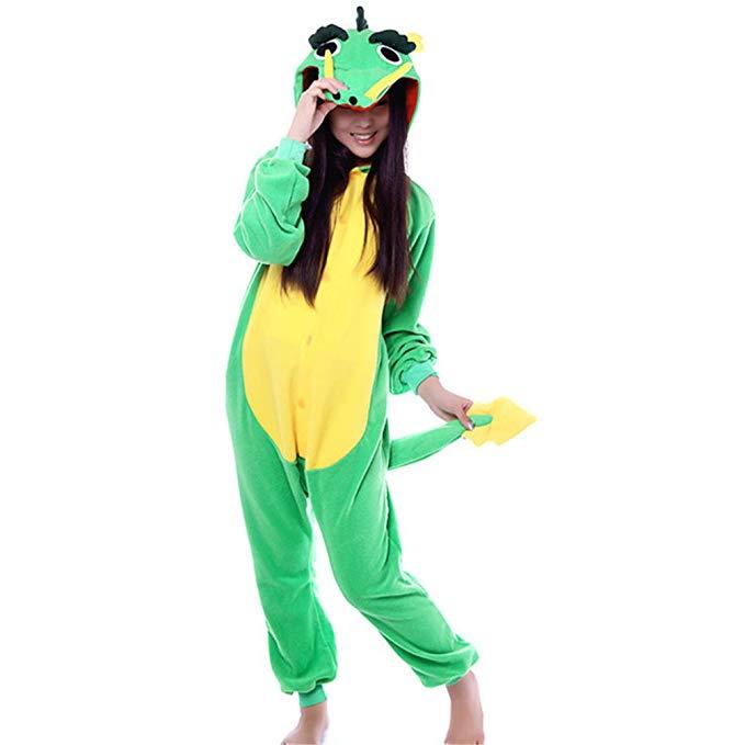 Unisex Dragon One Piece Jumpsuit Pajamas Animal Cosplay Costume