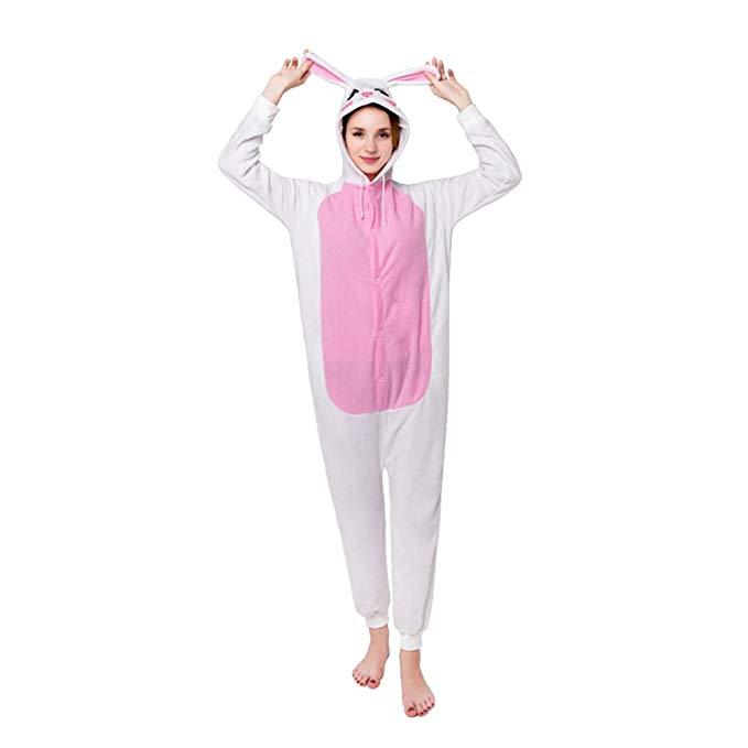 MizHome Halloween Costume Hooded Pajamas Kigurumi Cartoon Cosplay S-XL