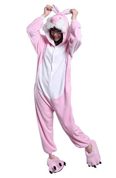 Honeystore Adult Unisex Pajama Halloween Costume Cosplay Animal One Piece