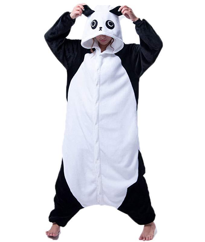 Adult Women and Mens Onesies Kigurumi Panda Onesie Cosplay Costumes Pajama Party Wear
