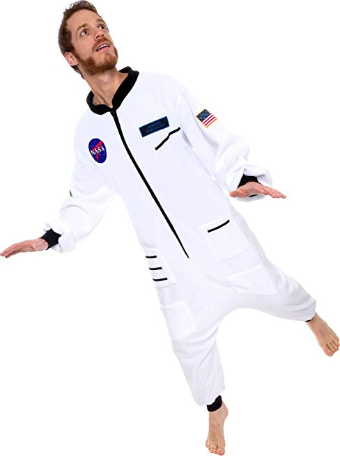 Silver Lilly One Piece Astronaut Pajamas - Adult Space Jumpsuit Cosplay Costume