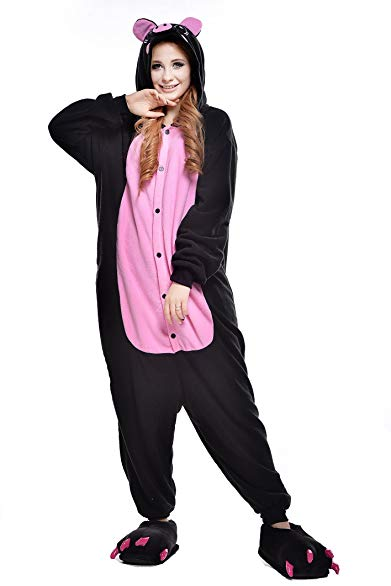 Newcosplay Adult Pig Pajama Costume