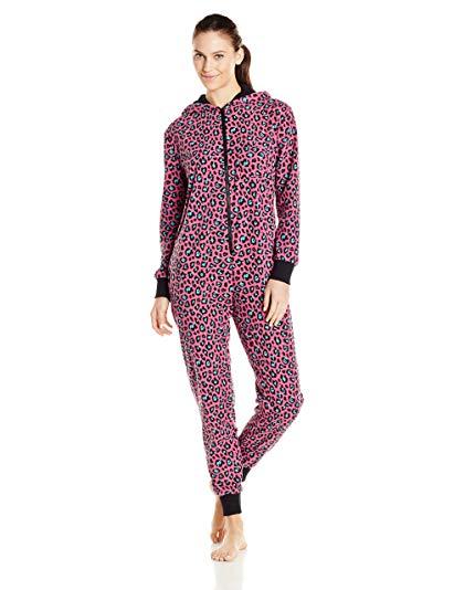 Bottoms Out Women's Microfleece Polka Dot One-Piece Pajama