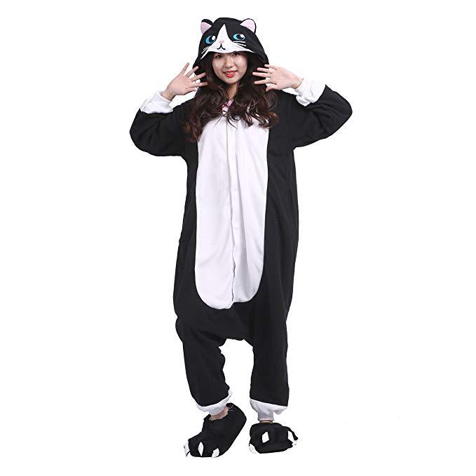 PALMFOX Women's Warm Cozy Plush Adult Animal Onesies/Pajamas/Sleepsuit/Cosplay Costumes